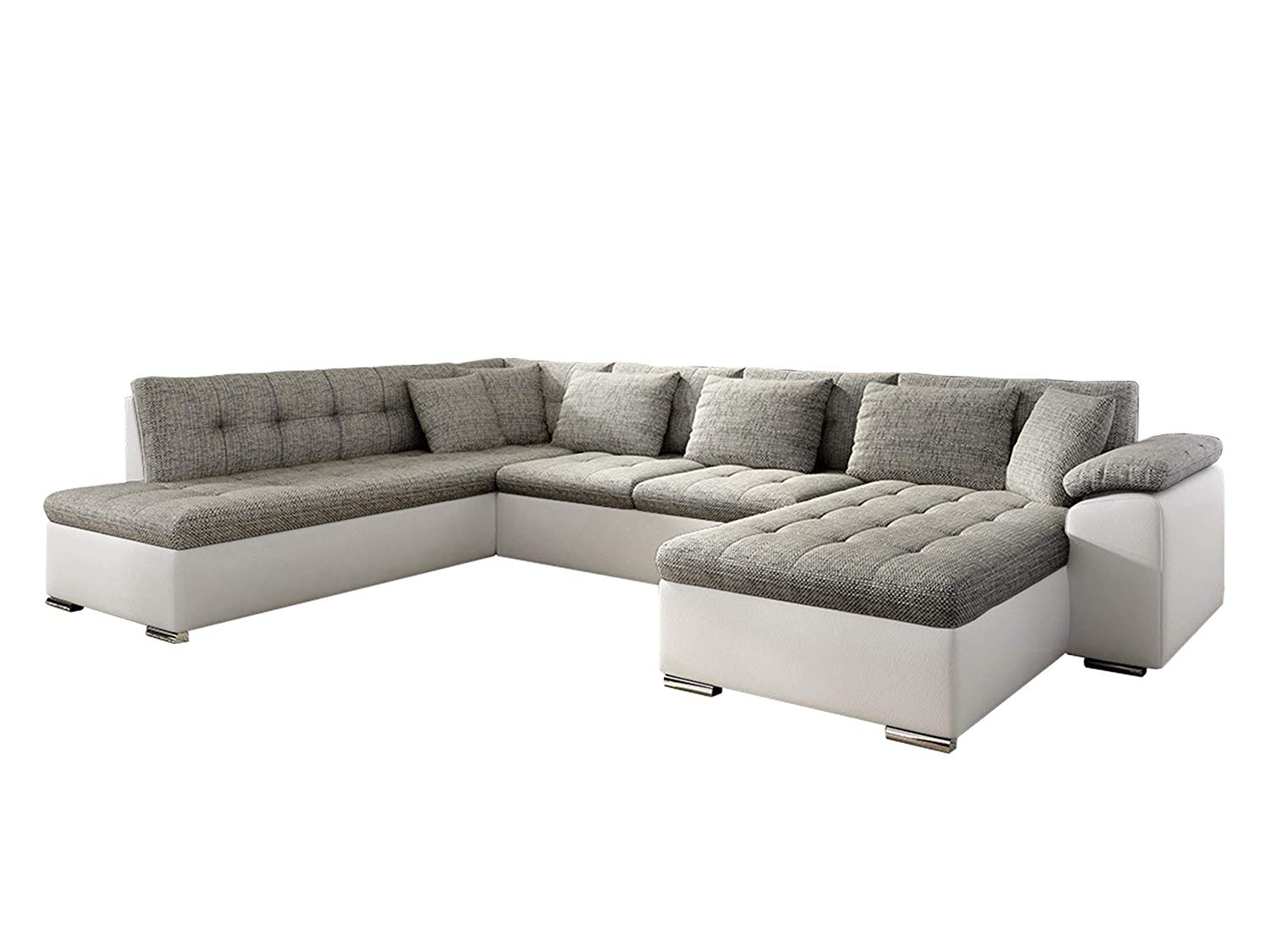 sofa dublin xxl weiss grau links. Black Bedroom Furniture Sets. Home Design Ideas